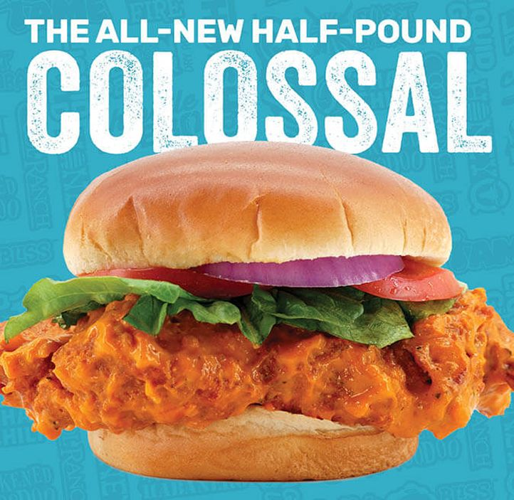 Wing Zone Colossal Chicken Sandwich