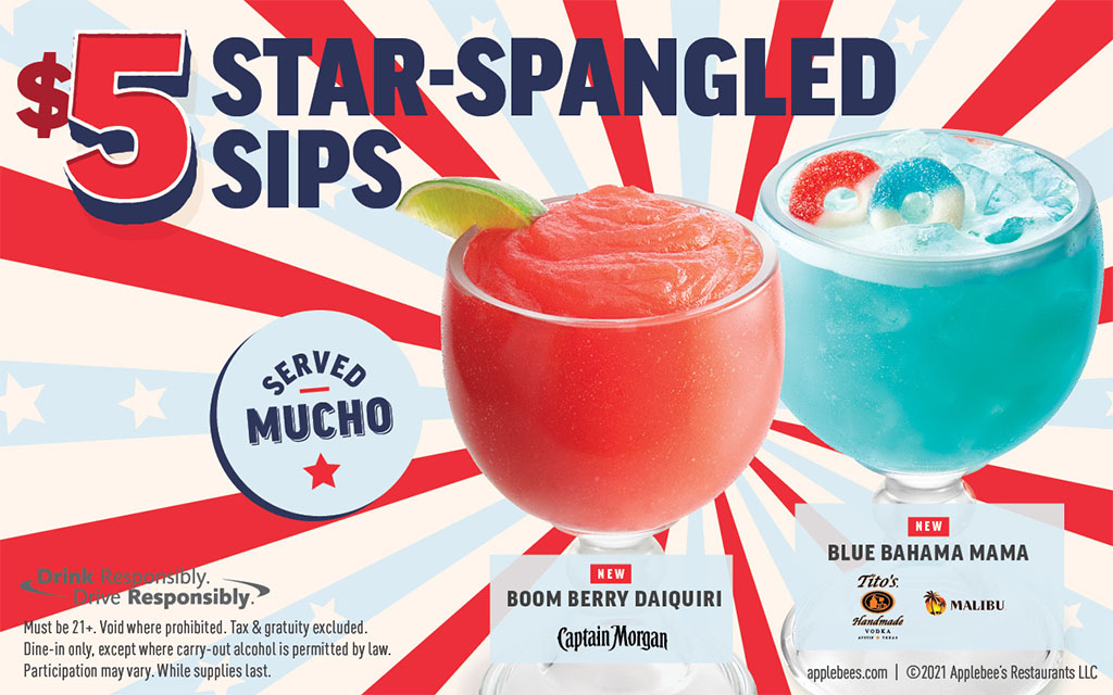 Applebee's NEW $5 Star-Spangled Sips