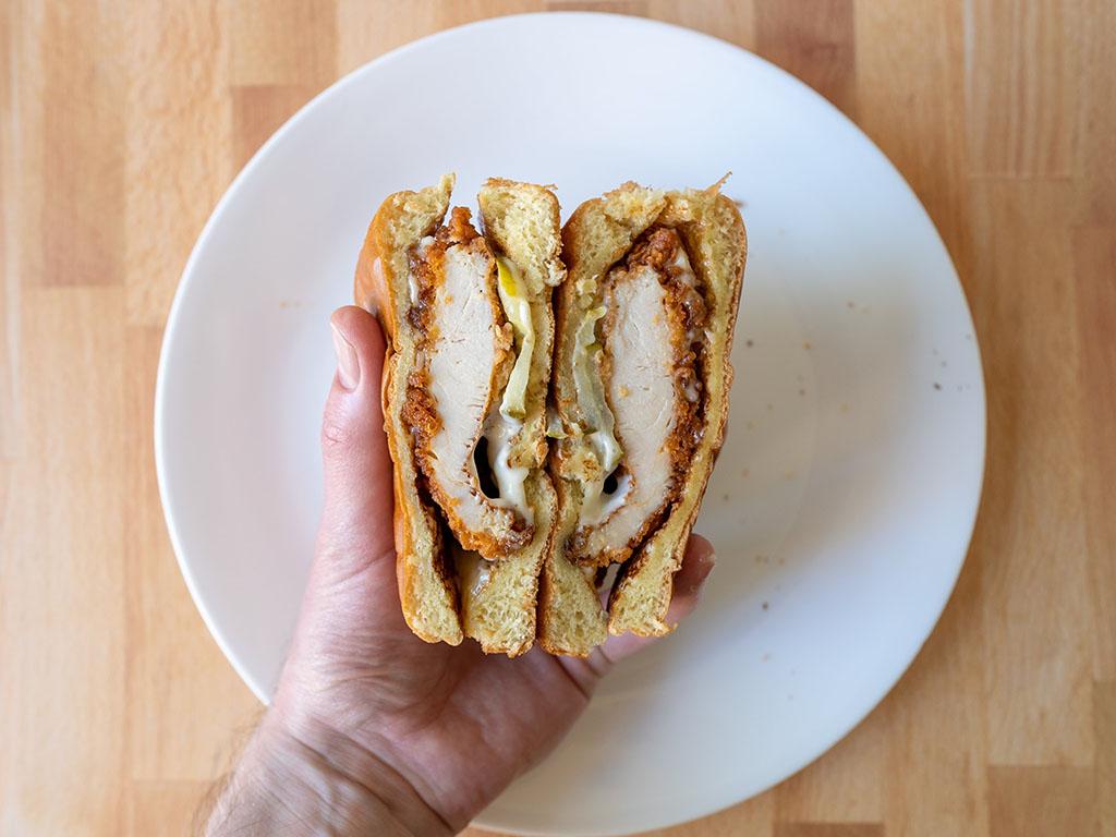 Carl's Jr. Hand-Breaded Chicken Sandwich close up
