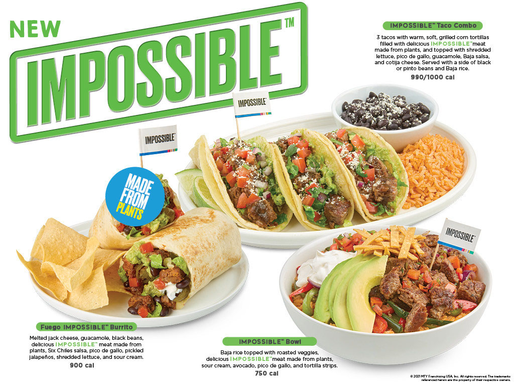 Baja Fresh launches new Impossible items