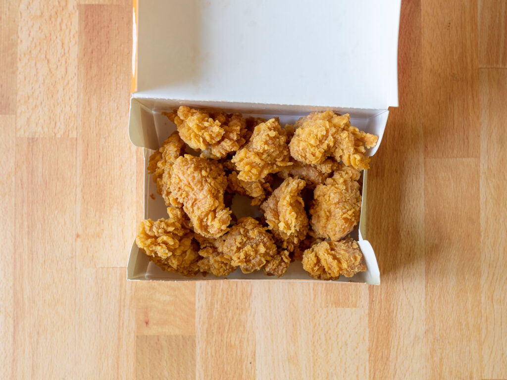 Popeyes Chicken Nugget 12 pc in container