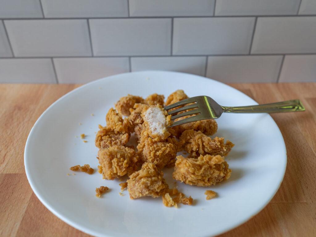 Popeyes Chicken Nugget interior