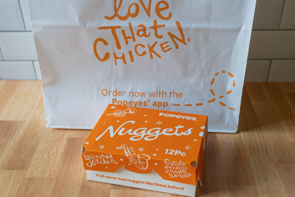 Popeyes new chicken nugget container