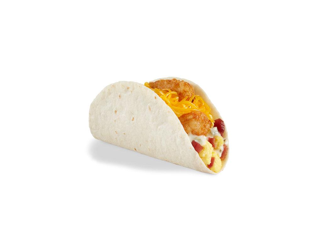 Del Taco - Hashbrowns & Bacon breakfast taco