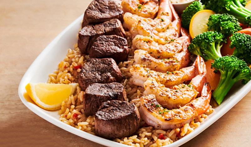 Outback Steakhouse - Filet & Shrimp On The Barbie