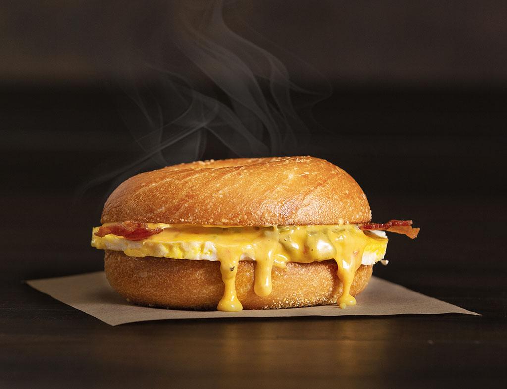 Einstein Bros Bagels - Bacon & Queso Egg Sandwich