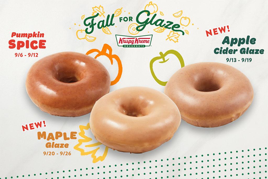 Krispy Kreme's Fall for Glaze flavors here