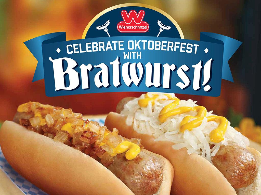 Oktoberfest bratwurst at Wienerschnitzel