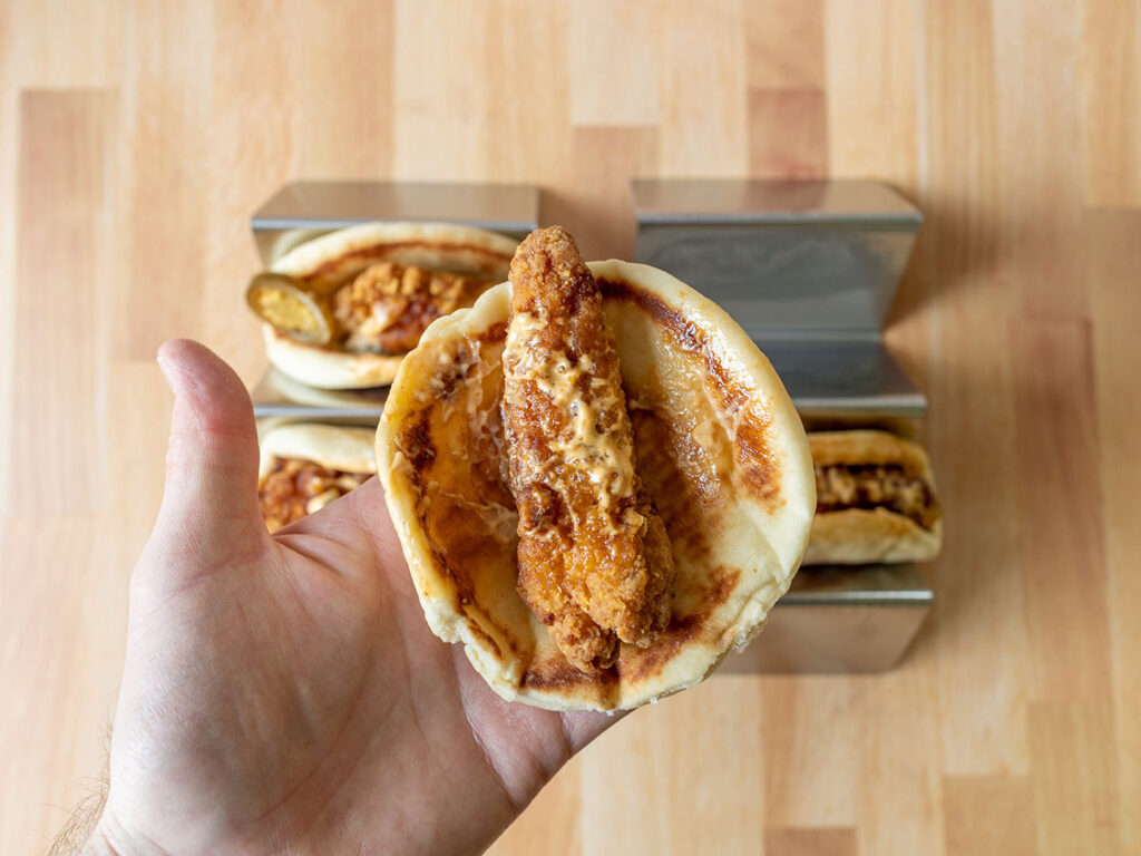 Taco Bells Crispy Chicken Sandwich Tacos regular taco interior