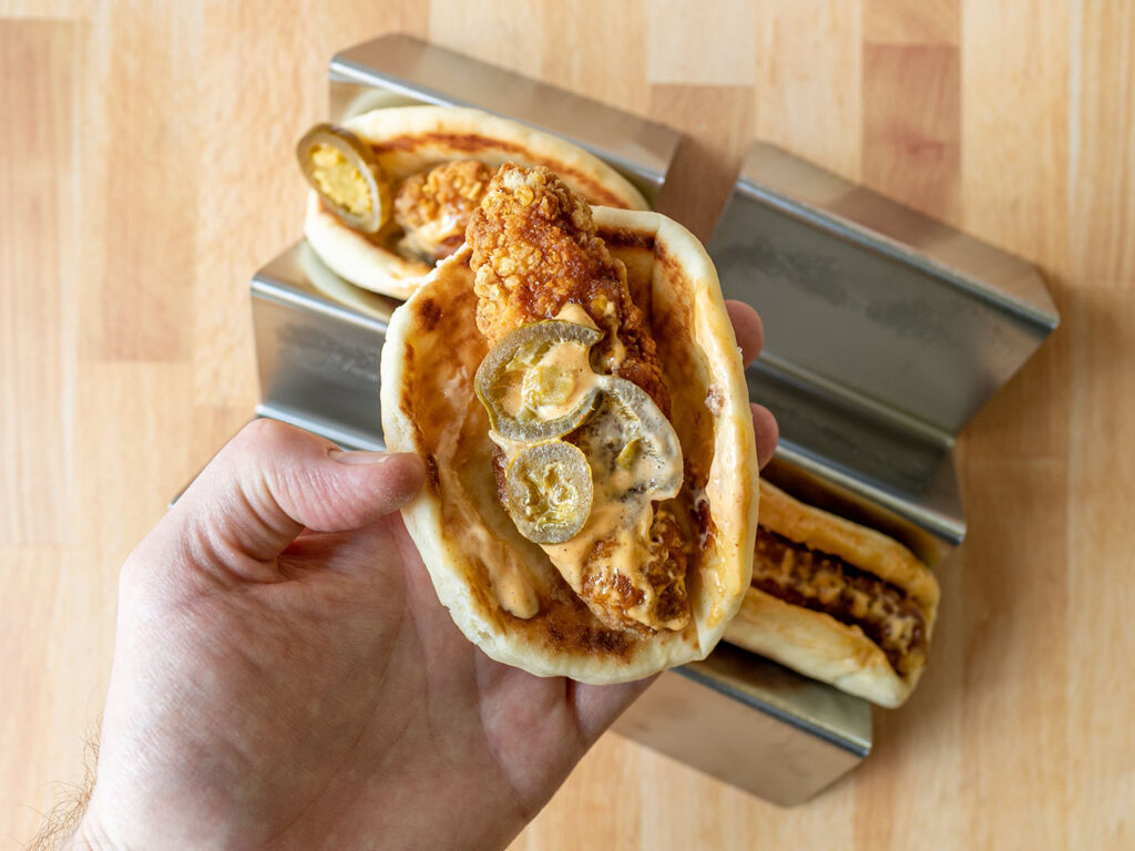 Taco Bells Crispy Chicken Sandwich Tacos spicy