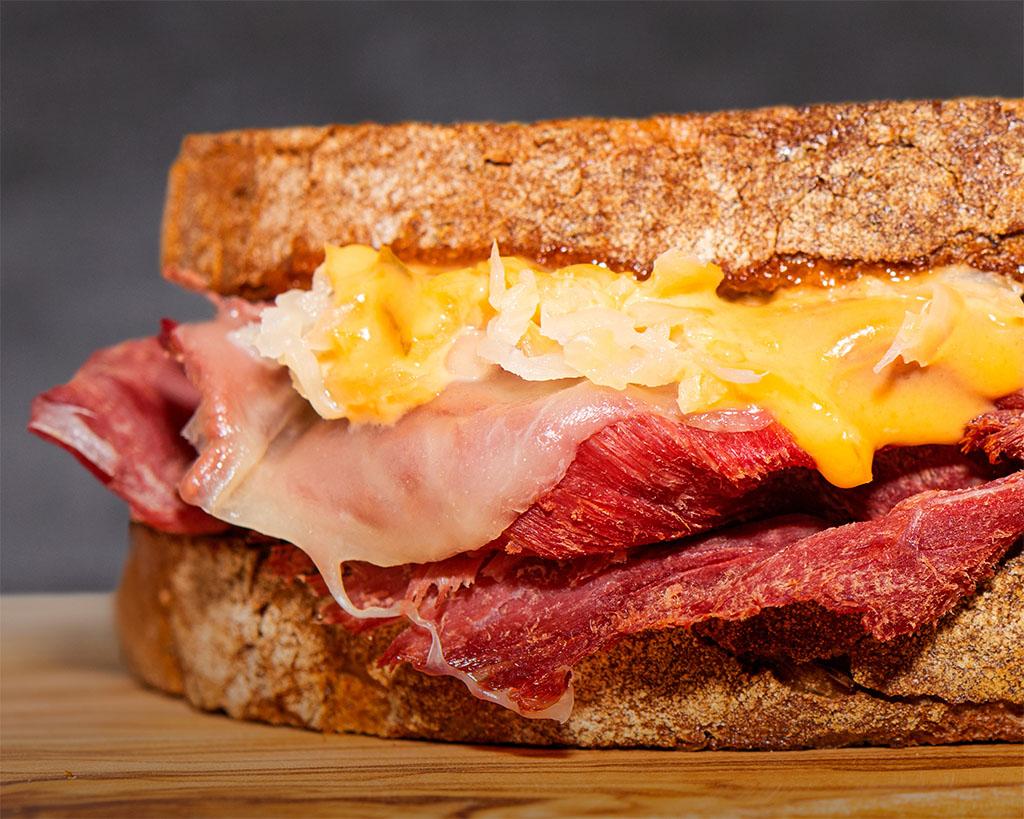 Quiznos Bison Reuben Sandwich