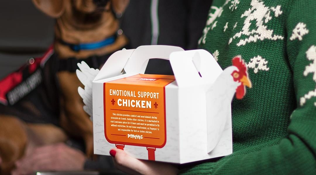 Emotional Support Chicken (Popeye's)